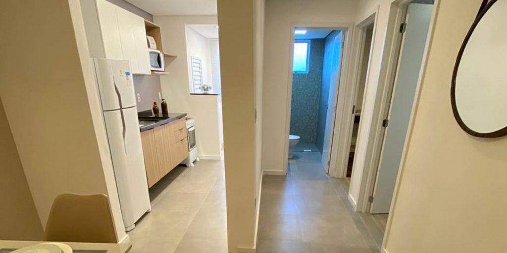 Apartamento Hera Residencial - Cozinha e Banheiro