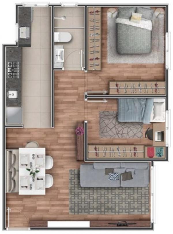 Hera Residencial - Apartamento Planta Baixa